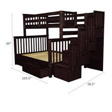 King Bunk Bed Bedz King Stairway Bunk Bed Sears Marketplace