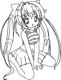 anime student coloring page wecoloringpage