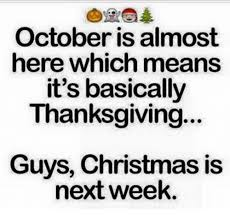 october is almost here which means it s basically thanksgiving