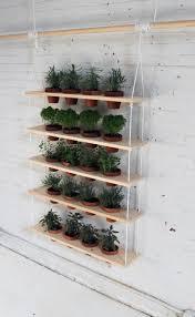 diy hanging garden shelves for a small space garden shelves