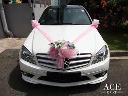 pink mercedes mercedes benz c180 cgi sport wedding car decorations