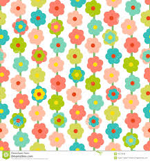 retro seamless pattern with small flowers stock vector image