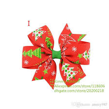 christmas hair bows christmas hair bows print hair bow simple boutique bow