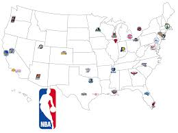 nba divisions map map of nba i done these maps for teams and
