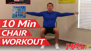 Chair Resistance Band Exercises 10 Min Chair Workout For Seniors Hasfit Seated Exercise For