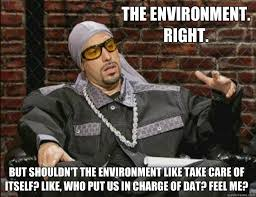 the environment right but shouldn t the environment like take