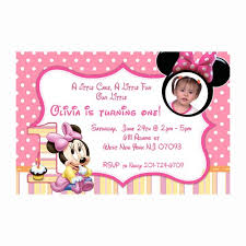 printable baby minnie mouse first birthday invitations cards