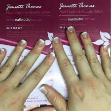 acrylic nails on very short nail biters nails we used a cover