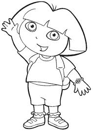 dora coloring pages for toddlers dora coloring pages the explorer printable coloring book pages for