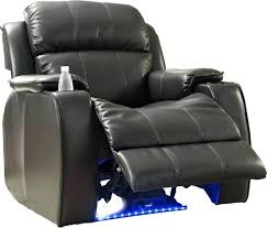 Southern Motion Reclining Sofa by Southern Motion Leather Power Recliner With Cup Holders Black