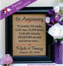 6th anniversary gifts for 6th anniversary 6th wedding anniversary gift 6th anniversary