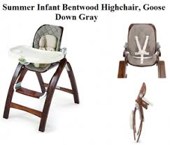 Portable Baby High Chair Summer Infant Bentwood Highchair In Goose Down Gray From Portable