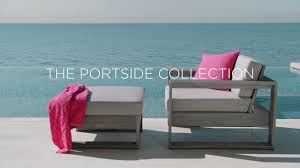 West Elm Outdoor Chairs The Portside Collection Youtube