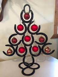 horseshoe christmas tree horseshoe christmas tree craft ideas horseshoe