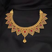 gold necklace set jewellery images Garima nimah gold necklace set online jewellery shopping india jpg