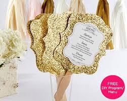 fan favors personalized gold glitter fan set of 12