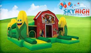bounce house rentals houston corn maze fall event rentals houston tx sky high party rentals