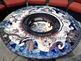 Mosaic Patio Table Top by Patio Fire Pit As Patio Furniture With Great Mosaic Patio Table
