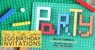 how to make lego party invitations bren did