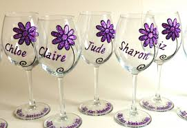wine glass birthday 40th birthday large wine glass glitter daisy design 500ml