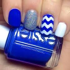 143 best blue nails images on pinterest blue nails make up and