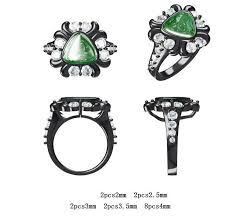 black opal engagement rings australian opal ring deco engagement ring green black opal