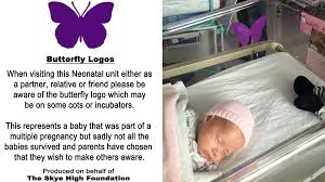 purple butterfly stickers help nicu parents with infant loss today com