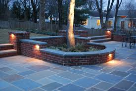 Patio Paver Lights Lighting And Patio Brick Yard Landscape Fence Ideas