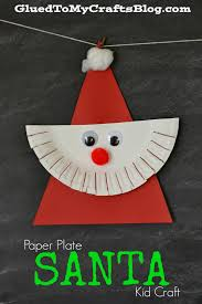 paper plate santa kid craft craft child and holidays