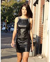leather dress embellished faux leather dress 1 jpg