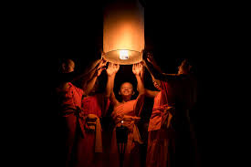 laos luang prabang festival of lights novice lantern photo by