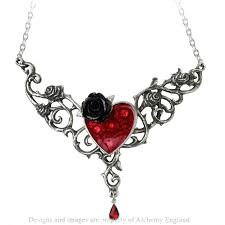 red gothic necklace images The blood rose heart gothic necklace in pewter jpg