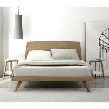 Walnut Bed Frames Modern Bed Frame Bello Modern Walnut Cherry Wood Size