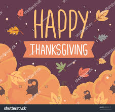 happy thanksgiving in espanol vector thanksgiving illustration pumpkins text happy stock vector