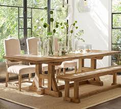 Extending Wood Dining Table Stafford Reclaimed Pine Extending Dining Table Pottery Barn