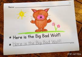 big writing paper free big bad wolf writing pages frog spot activity 2 is a tracing activity students will need to read the sentence first and then copy by tracing the letters in the correct formation