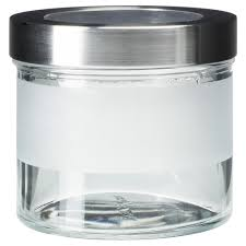Glass Bathroom Storage Jars Droppar Jar With Lid Frosted Glass Stainless Steel Bathroom