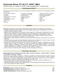 Mri Technologist Resume Mri Technologist Cover Letter Sample Resume My