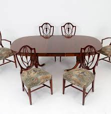 duncan phyfe style table with six federal style dining chairs ebth
