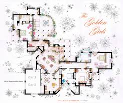 accurate floor plans of 15 famous tv show apartments the golden