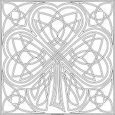 knotwork shamrock to print and color available in jpg and