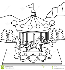 carousel coloring page stock illustration image 86598443