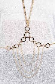 Draped Body Chain Kbc1008 Gold Ring Connected Chain Draped Body Chain 5daj18 Body