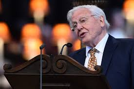 sir david attenborough in national service of thanksgiving to