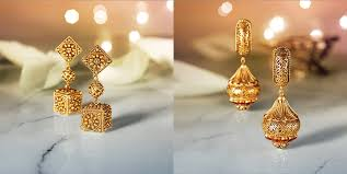 temple design gold earrings designer gold divyam temple jewellery online tanishq