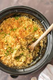 easy thanksgiving casserole slow cooker broccoli rice casserole the cookie rookie
