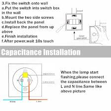1 way 2 gang crystal glass panel wall light touch switch remote
