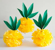 tissue paper decorations diy tissue paper pineapples craftsonfire