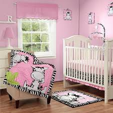 baby boom i luv zebra 3pc crib bedding set pink walmart com