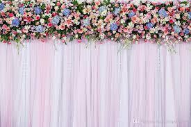 wedding backdrop photo 7x5ft white pink wedding curtain backdrops colorful flowers photo